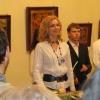 Олена Думбадзе на відкритті виставки ікон